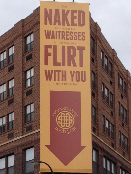 Pub sign, typography ad